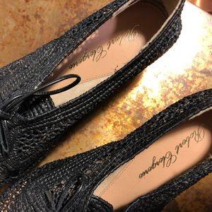 Robert Clergerie Shoes - NEW Robert Clergerie Blk Woven Platform Shoes 7.5